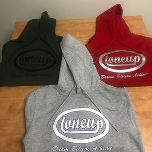 New OneUp Hoodies Grey and Red